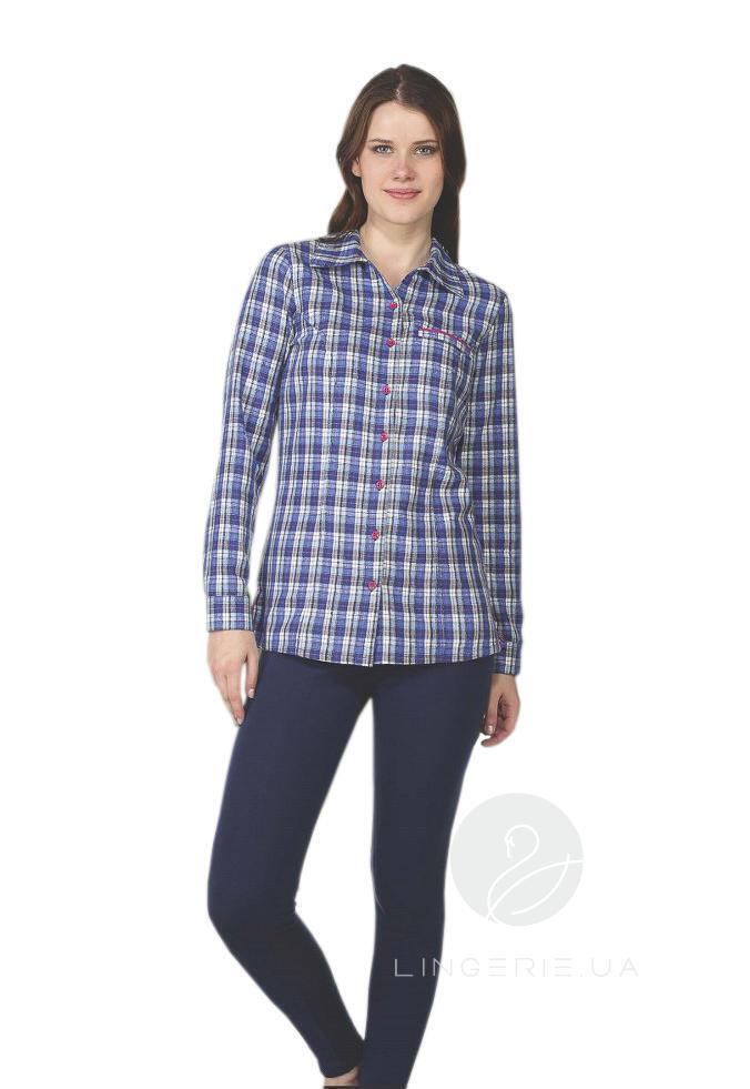 78f6c93ad19bf6c Купить Костюм женский из фланелевой рубашки и лосин COCOON V96-1043 ...